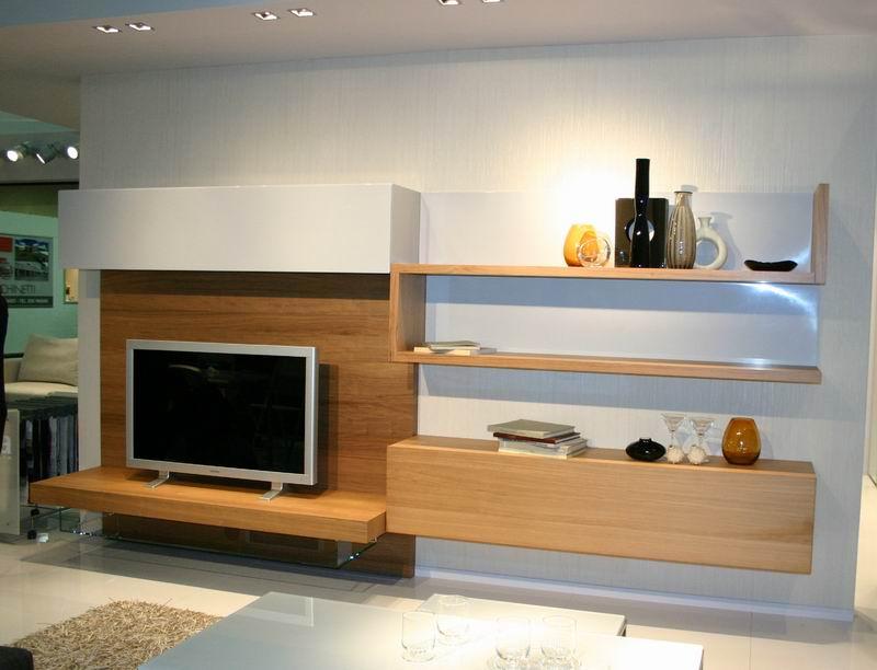Mobile da soggiorno mod oasi presotto in noce e laccato for Mobile da soggiorno moderno