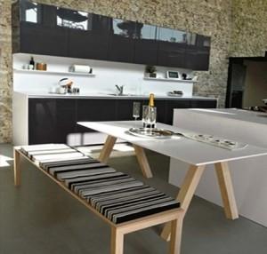 Cucina componibile orange snaidero carminati e for Tavolo cucina con panca